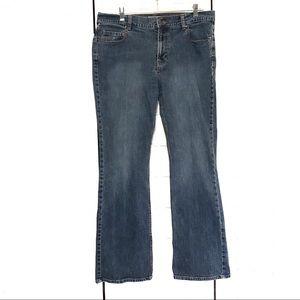 Boot Cut Comfy Stretch Jeans Medium Wash Size 12 R